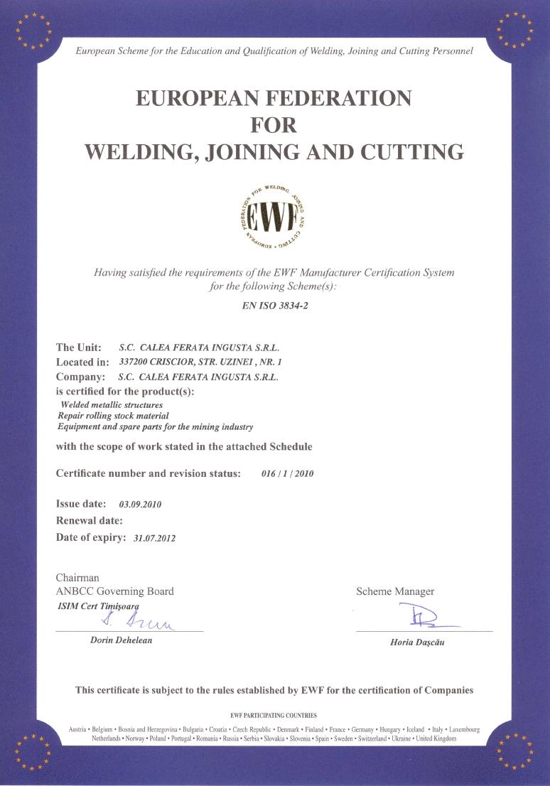 certificat SIMTEX